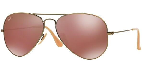 Sluneční brýle Ray-Ban® model 3025, barva obruby bronzová mat, čočka červená zrcadlo, kód barevné varianty 1672K.