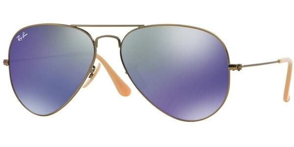 Sluneční brýle Ray-Ban® model 3025, barva obruby bronzová mat, čočka modrá zrcadlo, kód barevné varianty 16768.