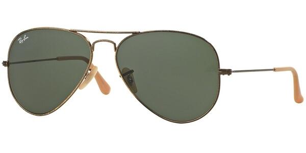 Sluneční brýle Ray-Ban® model 3025, barva obruby zlatá mat, čočka zelená, kód barevné varianty 177.