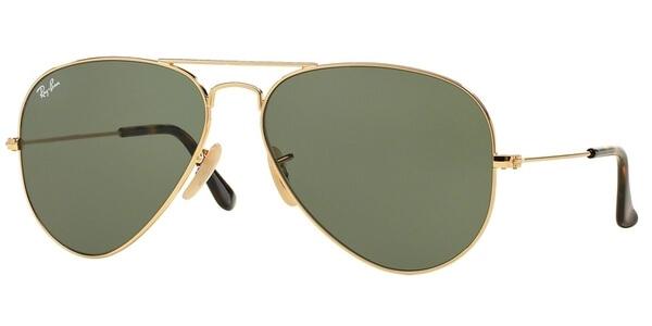 Sluneční brýle Ray-Ban® model 3025, barva obruby zlatá lesk, čočka zelená, kód barevné varianty 181.