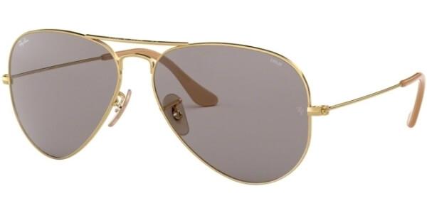 Sluneční brýle Ray-Ban® model 3025, barva obruby zlatá lesk, čočka sedá, kód barevné varianty 9064V8.