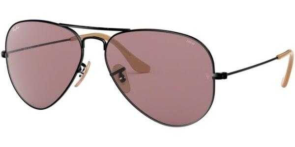 Sluneční brýle Ray-Ban® model 3025, barva obruby černá lesk, čočka fialová, kód barevné varianty 9066Z0.