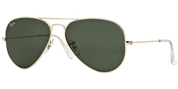 Sluneční brýle Ray-Ban® model 3025, barva obruby zlatá lesk, čočka šedozelená, kód barevné varianty L0205.