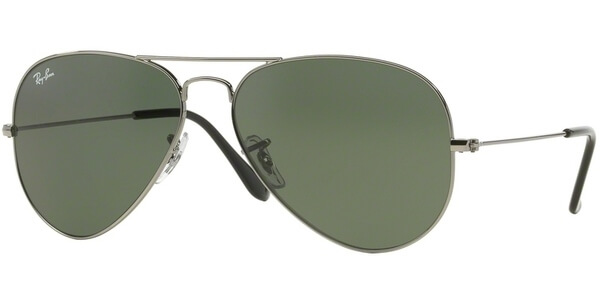 Sluneční brýle Ray-Ban® model 3025, barva obruby stříbrná lesk, čočka zelená, kód barevné varianty W0879.
