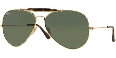 Sluneční brýle Ray-Ban® model 3029, barva obruby zlatá lesk, čočka zelená, kód barevné varianty 181.