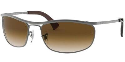 Sluneční brýle Ray-Ban® model 3119, barva obruby šedá lesk, čočka hnědá gradál, kód barevné varianty 916451.