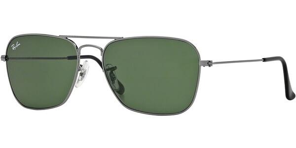 Sluneční brýle Ray-Ban® model 3136, barva obruby šedá lesk, čočka zelená, kód barevné varianty 004.