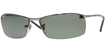 Sluneční brýle Ray-Ban® model 3183, barva obruby stříbrná lesk, čočka zelená polarizovaná, kód barevné varianty 0049A.