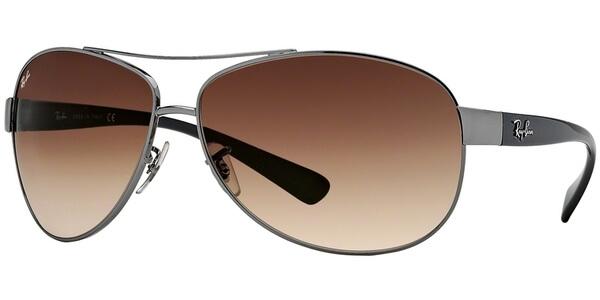 Sluneční brýle Ray-Ban® model 3386, barva obruby šedá lesk černá, čočka hnědá gradál, kód barevné varianty 00413.