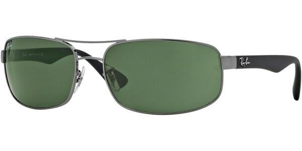 Sluneční brýle Ray-Ban® model 3445, barva obruby šedá mat černá, čočka zelená, kód barevné varianty 004.