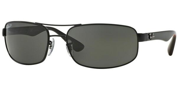 Sluneční brýle Ray-Ban® model 3445, barva obruby černá mat červená, čočka šedá polarizovaná, kód barevné varianty 006P2.