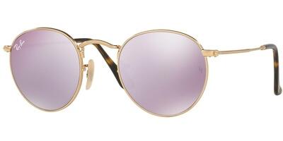 Sluneční brýle Ray-Ban® model 3447N, barva obruby zlatá lesk, čočka růžová zrcadlo, kód barevné varianty 0018O.