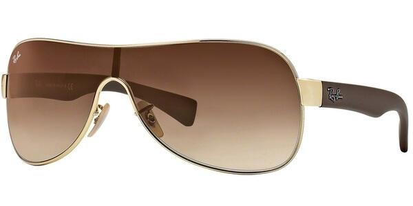 Sluneční brýle Ray-Ban® model 3471, barva obruby zlatá lesk hnědá, čočka hnědá gradál, kód barevné varianty 00113.