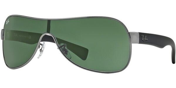 Sluneční brýle Ray-Ban® model 3471, barva obruby šedá mat černá, čočka zelená, kód barevné varianty 00471.