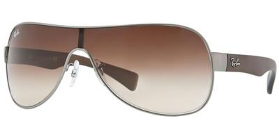 Sluneční brýle Ray-Ban® model 3471, barva obruby stříbrná mat hnědá, čočka hnědá gradál, kód barevné varianty 02913.