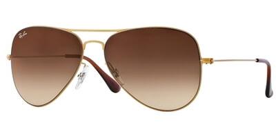 Sluneční brýle Ray-Ban® model 3513, barva obruby zlatá mat, čočka hnědá gradál, kód barevné varianty 14913.
