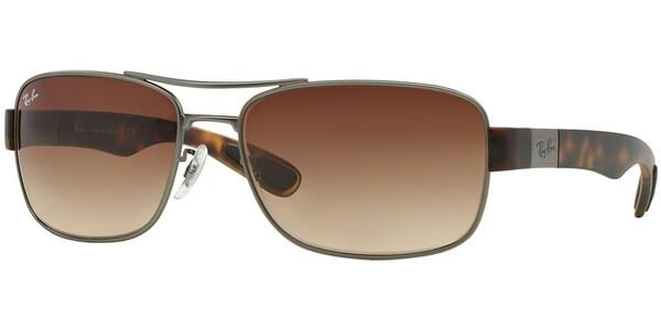 Sluneční brýle Ray-Ban® model 3522, barva obruby stříbrná mat hnědá gradál, kód barevné varianty 02913.