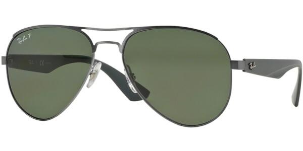 Sluneční brýle Ray-Ban® model 3523, barva obruby šedá mat, čočka zelená polarizovaná, kód barevné varianty 0299A.