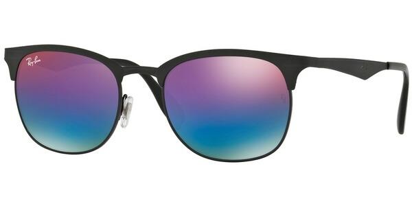 Sluneční brýle Ray-Ban® model 3538, barva obruby černá mat, čočka modrá zrcadlo gradál, kód barevné varianty 186B1.