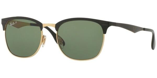 Sluneční brýle Ray-Ban® model 3538, barva obruby černá lesk zlatá, čočka zelená polarizovaná, kód barevné varianty 1879A.