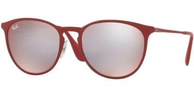 Sluneční brýle Ray-Ban® model 3539, barva obruby červená mat čevená, čočka šedá zrcadlo, kód barevné varianty 9023B5.
