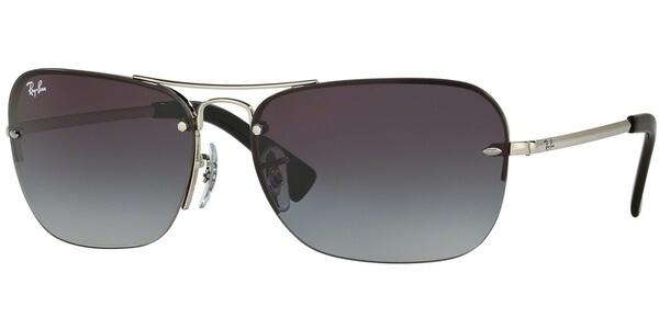 Sluneční brýle Ray-Ban® model 3541, barva obruby stříbrná lesk, čočka šedá gradál, kód barevné varianty 0038G.