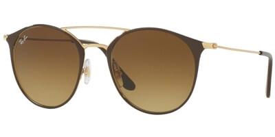 Sluneční brýle Ray-Ban® model 3546, barva obruby hnědá lesk zlatá, čočka hnědá gradál, kód barevné varianty 900985.