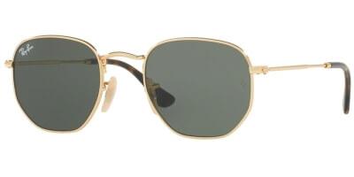 Sluneční brýle Ray-Ban® model 3548N, barva obruby zlatá lesk, čočka zelená, kód barevné varianty 001.