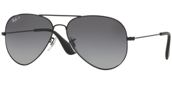 Sluneční brýle Ray-Ban® model 3558, barva obruby černá lesk, čočka šedá zrcadlo gradál, kód barevné varianty 002T3.