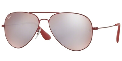 Sluneční brýle Ray-Ban® model 3558, barva obruby vínová lesk, čočka stříbrná zrcadlo gradál, kód barevné varianty 9017B5.