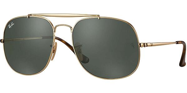 Sluneční brýle Ray-Ban® model 3561, barva obruby zlatá lesk, čočka zelená, kód barevné varianty 001.