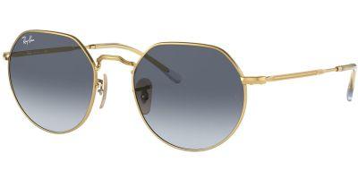Sluneční brýle Ray-Ban® model 3565, barva obruby zlatá lesk, čočka modrá gradál, kód barevné varianty 00186.