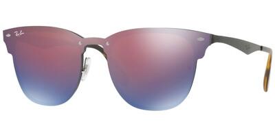 Sluneční brýle Ray-Ban® model 3576N, barva obruby modrá lesk černá, čočka modrá zrcadlo, kód barevné varianty 1537V.