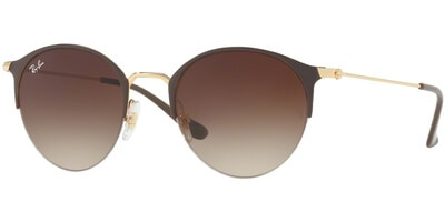 Sluneční brýle Ray-Ban® model 3578, barva obruby hnědá lesk zlatá, čočka hnědá gradál, kód barevné varianty 900913.