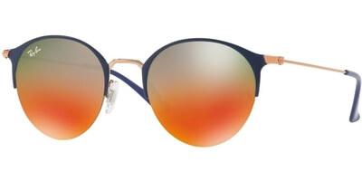 Sluneční brýle Ray-Ban® model 3578, barva obruby modrá lesk bronzová, čočka červená zrcadlo gradál, kód barevné varianty 9036A8.