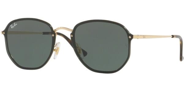 Sluneční brýle Ray-Ban® model 3579N, barva obruby zlatá lesk černá, čočka zelená, kód barevné varianty 00171.