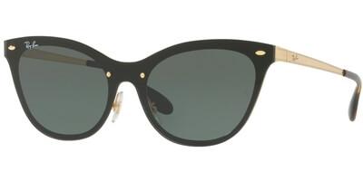 Sluneční brýle Ray-Ban® model 3580N, barva obruby černá lesk zlatá, čočka šedá, kód barevné varianty 04371.