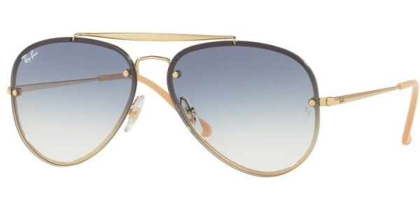Sluneční brýle Ray-Ban® model 3584N, barva obruby zlatá lesk modrá, čočka modrá gradál, kód barevné varianty 00119.