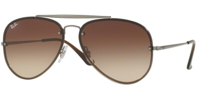 Sluneční brýle Ray-Ban® model 3584N, barva obruby šedá lesk hnědá, čočka hnědá gradál, kód barevné varianty 00413.