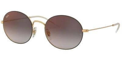 Sluneční brýle Ray-Ban® model 3594, barva obruby černá mat zlatá, čočka červená zrcadlo gradál, kód barevné varianty 9114U0.