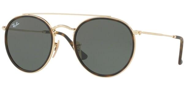 Sluneční brýle Ray-Ban® model 3647N, barva obruby hnědá lesk zlatá, čočka zelená, kód barevné varianty 001.