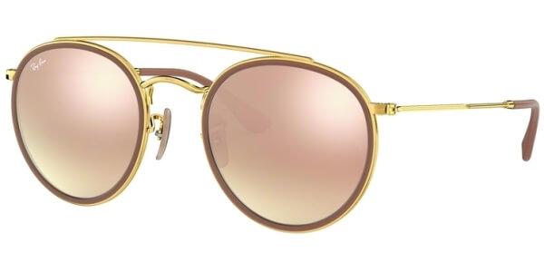 Sluneční brýle Ray-Ban® model 3647N, barva obruby červená lesk zlatá, čočka růžová zrcadlo gradál, kód barevné varianty 0017O.