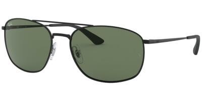 Sluneční brýle Ray-Ban® model 3654, barva obruby černá lesk, čočka zelená, kód barevné varianty 00271.