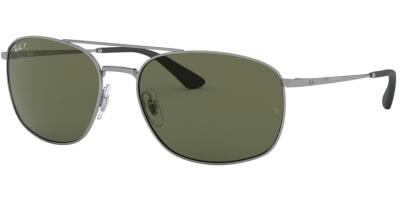 Sluneční brýle Ray-Ban® model 3654, barva obruby šedá lesk, čočka zelená polarizovaná, kód barevné varianty 0049A.
