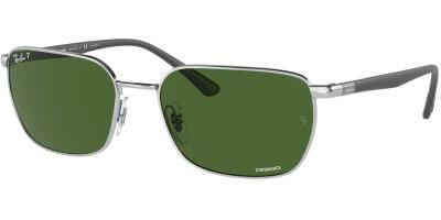Sluneční brýle Ray-Ban® model 3684CH, barva obruby stříbrná lesk, čočka zelená polarizovaná, kód barevné varianty 003P1.