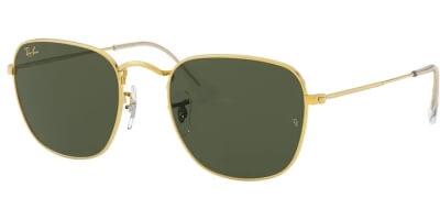 Sluneční brýle Ray-Ban® model 3857, barva obruby zlatá lesk, čočka zelená, kód barevné varianty 919631.