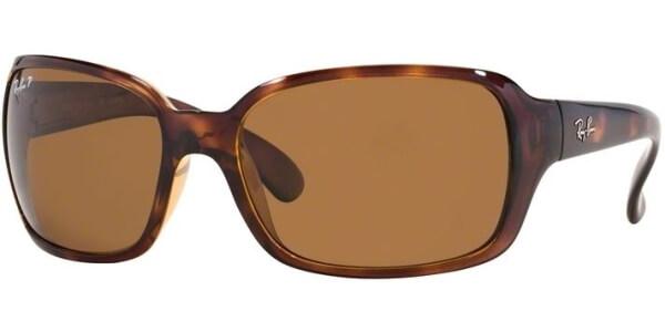 Sluneční brýle Ray-Ban® model 4068, barva obruby hnědá lesk, čočka hnědá polarizovaná, kód barevné varianty 64257.