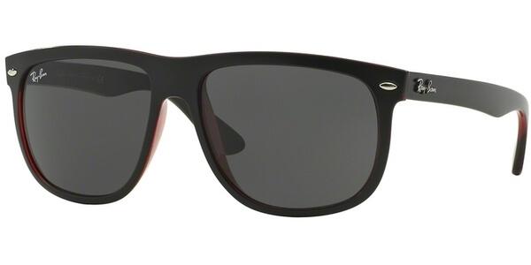 Sluneční brýle Ray-Ban® model 4147, barva obruby černá mat červená, čočka šedá, kód barevné varianty 617187.