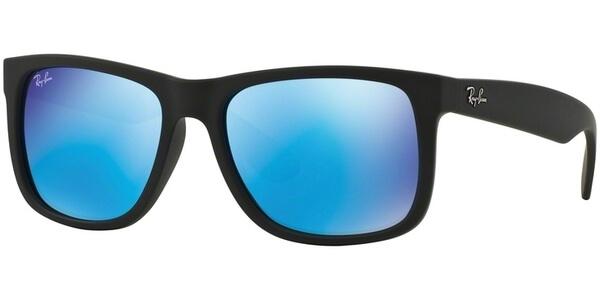 Sluneční brýle Ray-Ban® model 4165, barva obruby černá mat, čočka modrá zrcadlo, kód barevné varianty 62255.