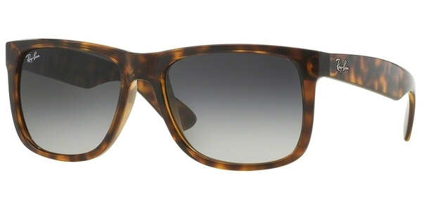 Sluneční brýle Ray-Ban® model 4165, barva obruby hnědá mat, čočka šedá gradál, kód barevné varianty 7108G.